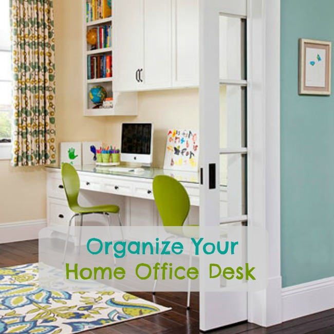 organize your home office desk simpleigh organized. Black Bedroom Furniture Sets. Home Design Ideas